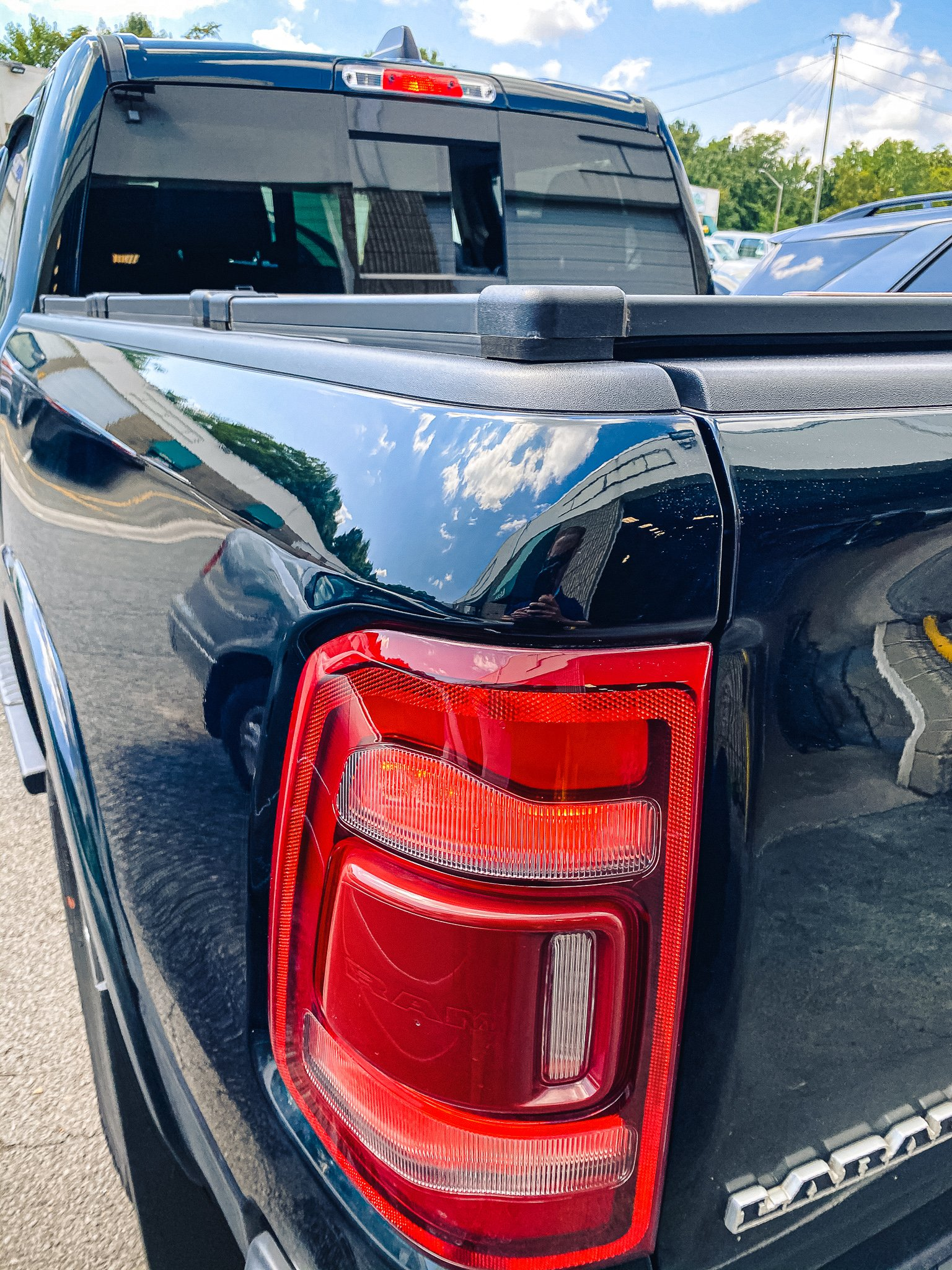 TRUCK BED DENT - AFTER REPAIR