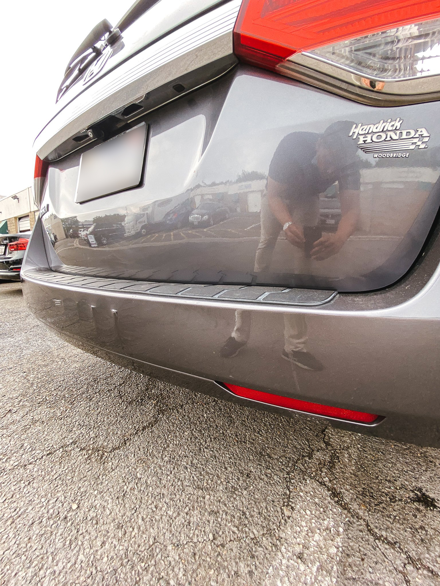 Nasty dent on rear hatch- AFTER